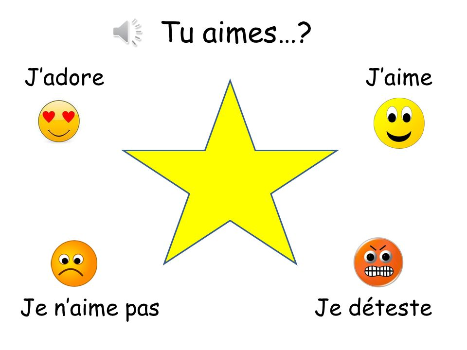 Tu aimes quelle couleur? Asking the class their opinions on colours. Finish the sentence on each slide. You can play this as corners by putting up opi