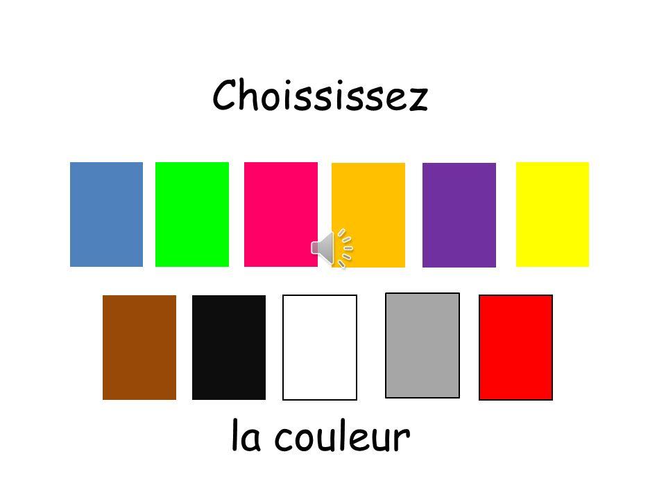 Choississez la couleur