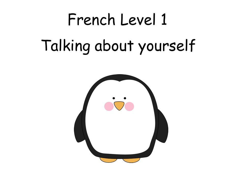 French Level 1 Talking about yourself