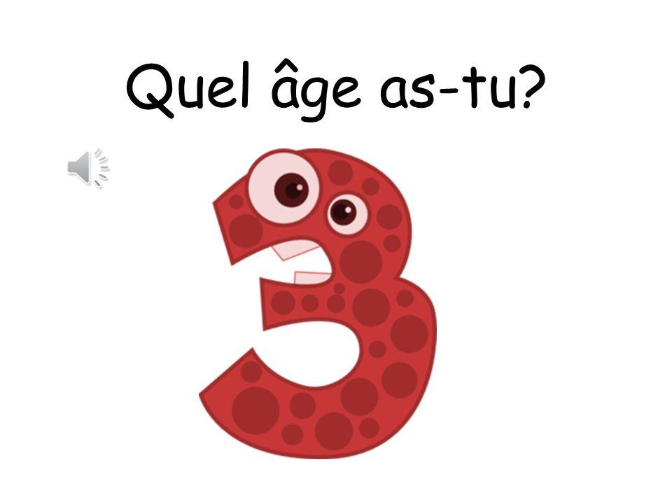 Oui! Jai sept ans!