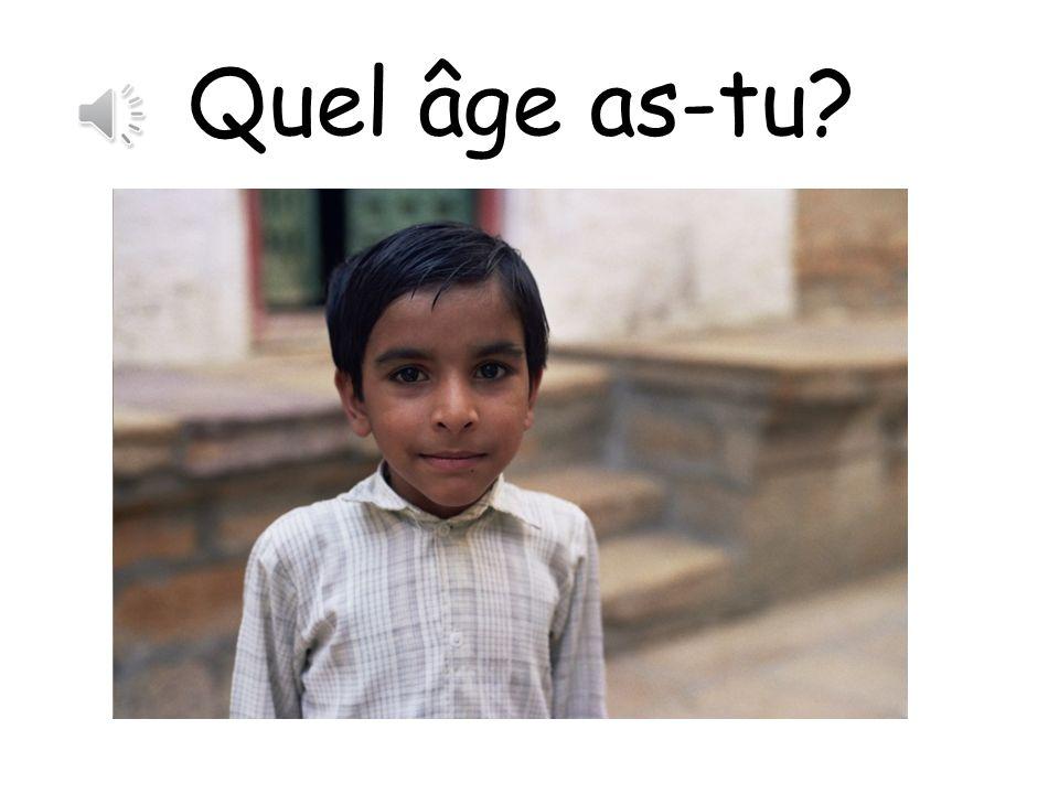 Quel âge as-tu? Regardez les photos et décidez lâge de la personne!