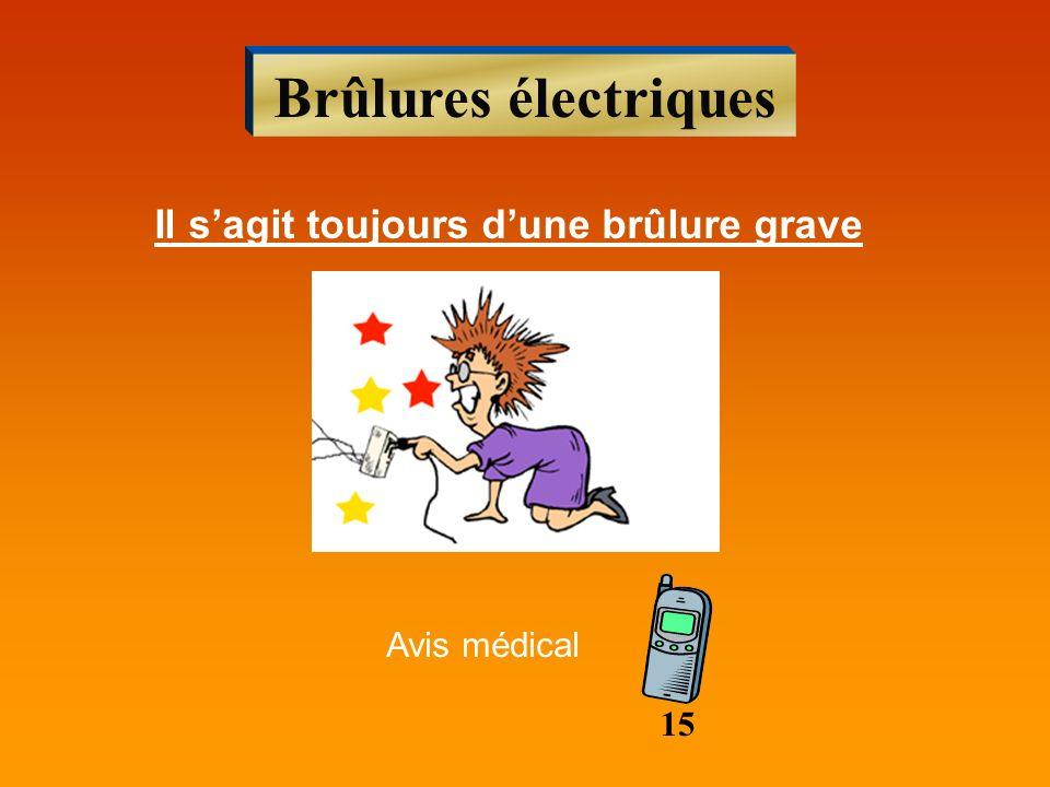 Brûlures électriques Il sagit toujours dune brûlure grave Avis médical 15