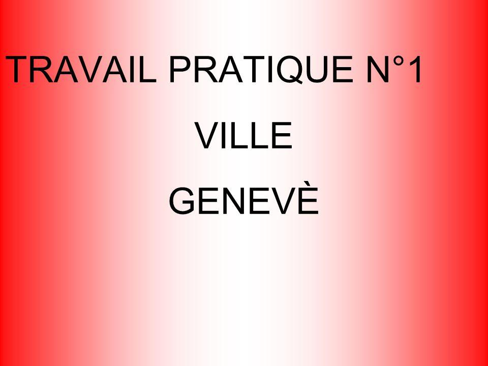 TRAVAIL PRATIQUE N°1 VILLE GENEVÈ