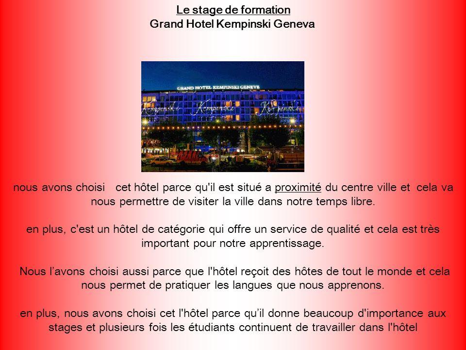 nous avons choisi cet hôtel parce qu'il est situé a proximité du centre ville et cela va nous permettre de visiter la ville dans notre temps libre. en