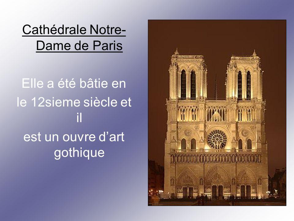 Basilique du Sacré-Cœur Cest un édifice Religieux parisien Majeur.