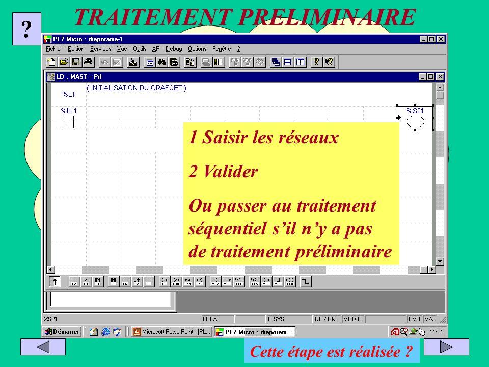 Transfert du programme Sélectionner AP puis connecter Choisir le sens du transfert : PC =>automate Arrêter lautomate si nécessaire .