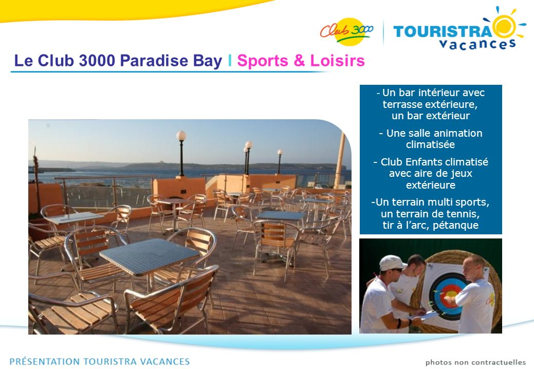 Le Club 3000 Paradise Bay I Sports & Loisirs - Un bar intérieur avec terrasse extérieure, un bar extérieur - Une salle animation climatisée - Club Enf