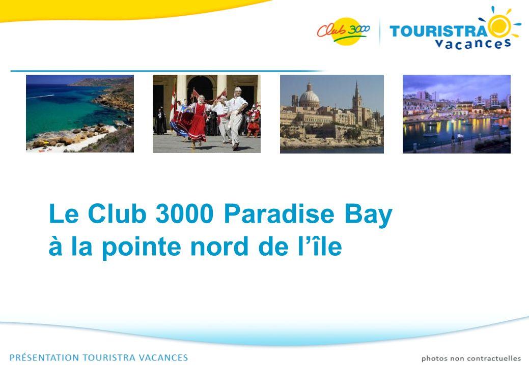 Le Club 3000 Paradise Bay I Situé sur la pointe nord de lîle, le Club 3000 Paradise Bay offre une vue imprenable sur les îles de Comino et de Gozo, facilement accessibles par bateau.
