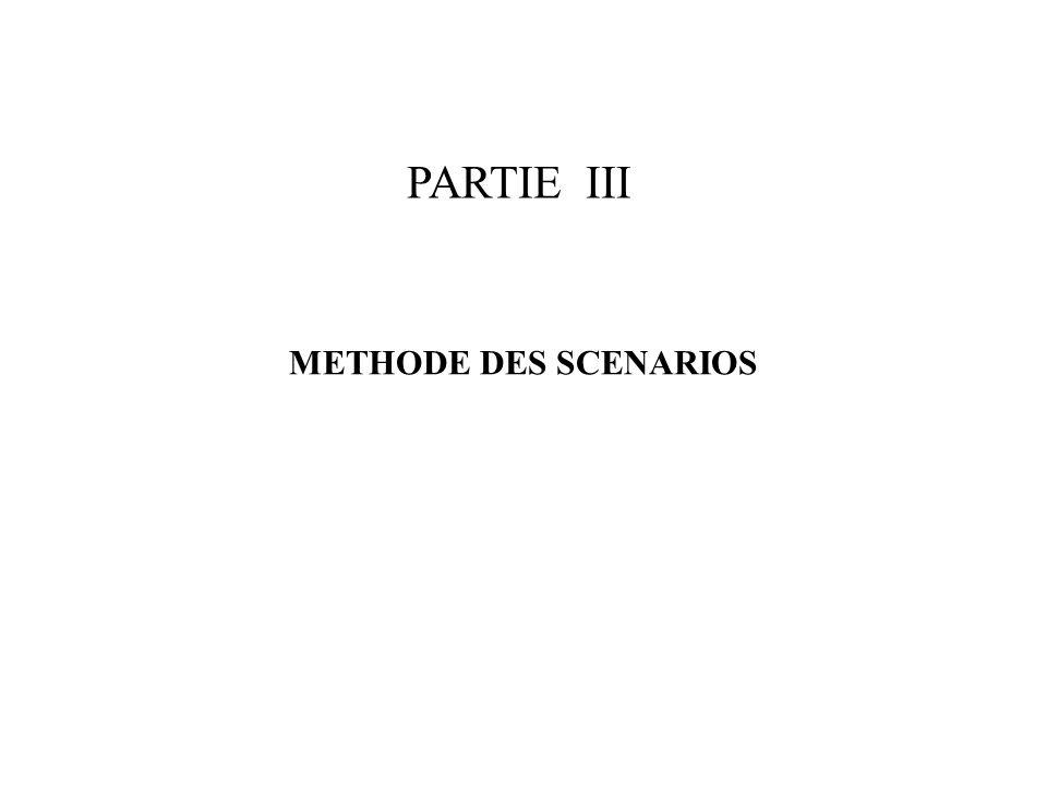 PARTIE III METHODE DES SCENARIOS