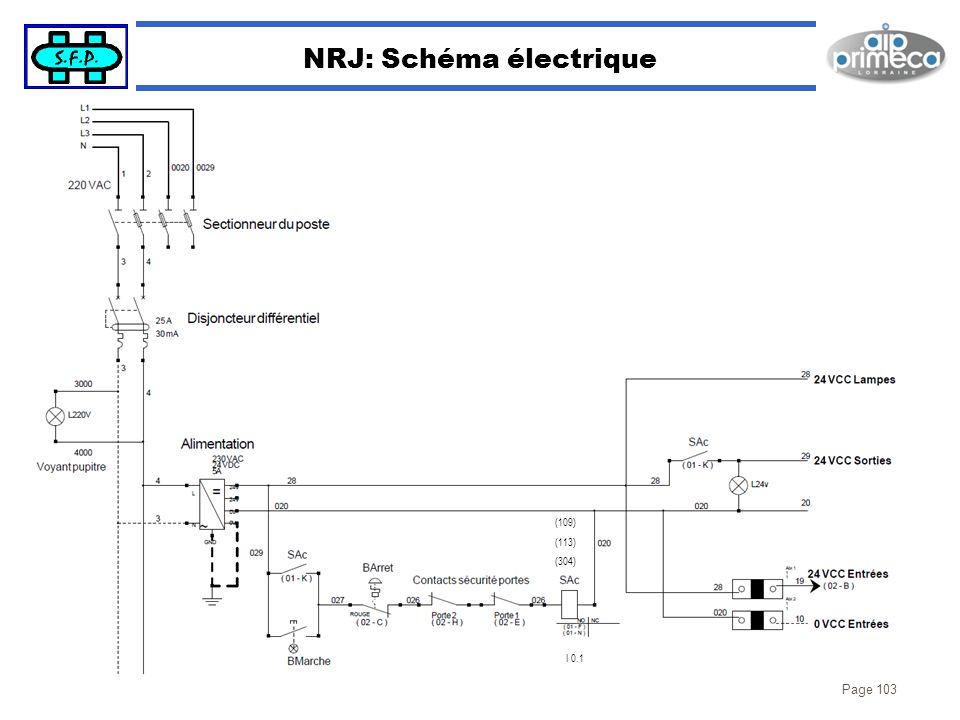 Page 103 NRJ: Schéma électrique I 0.1 (109) (113) (304)