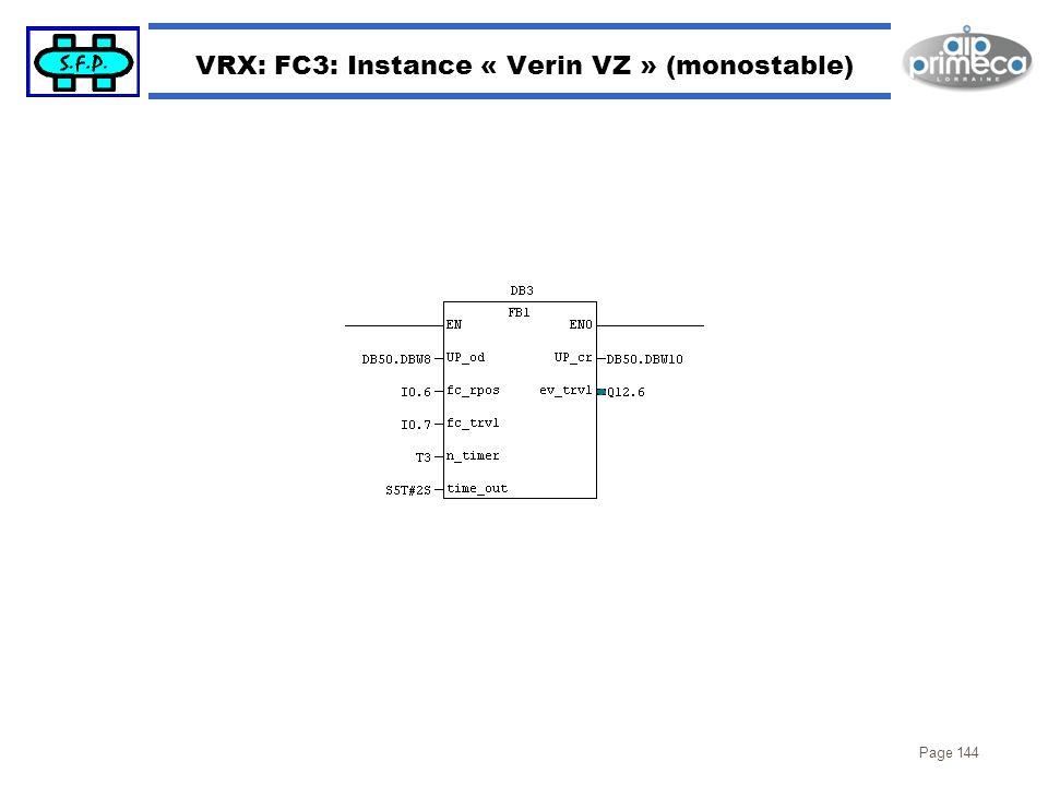 Page 144 VRX: FC3: Instance « Verin VZ » (monostable)