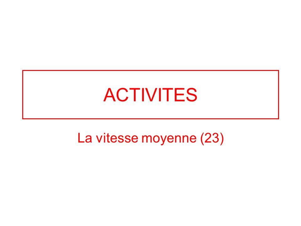 ACTIVITES La vitesse moyenne (23)