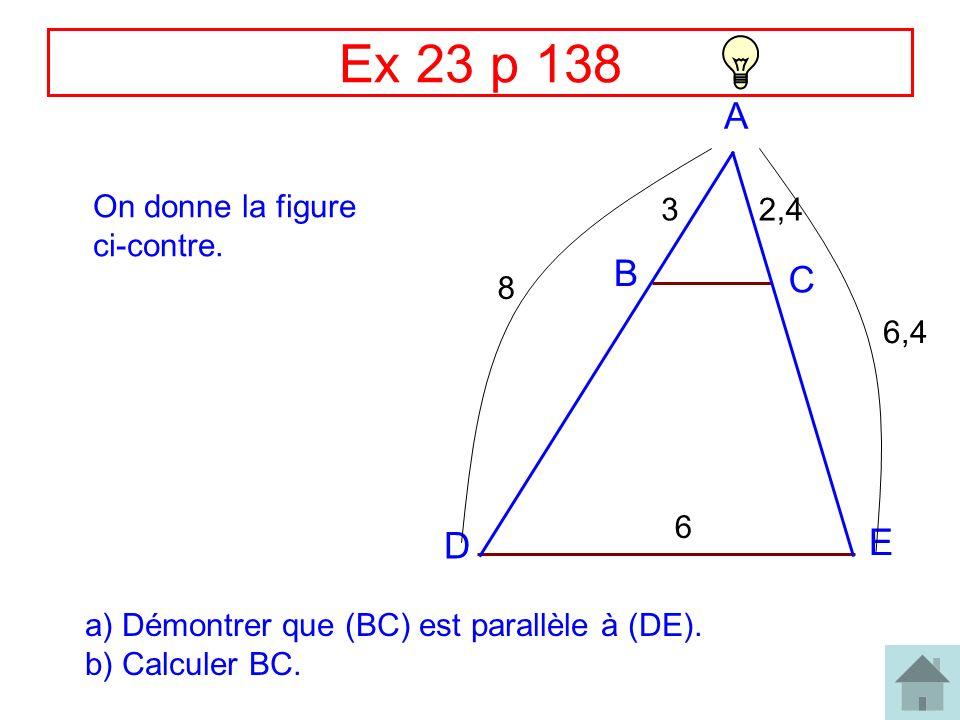 Correction Ex 27 p 138 R C O T I 8 3,6 2,4 4 Le triangle TRI est rectangle en T.