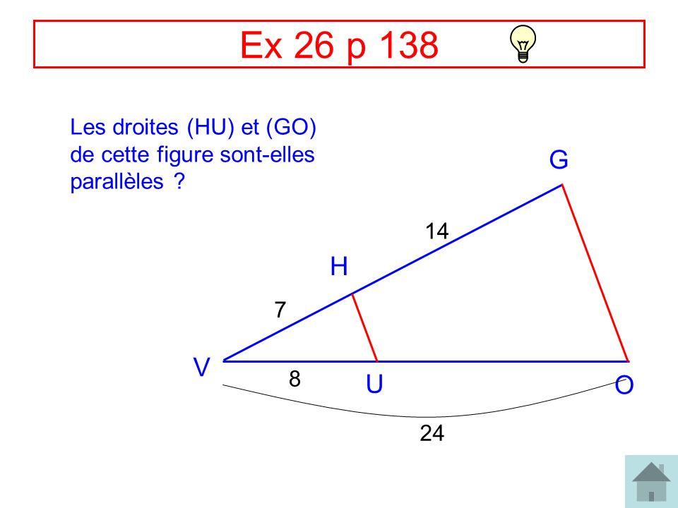Correction Ex 28 p 138 B R J E L 45 33 30 22 et les points J, E, R et J, L, B sont alignés dans le même ordre donc: (BR) // (EL) (daprès la réciproque du théorème de Thalès)