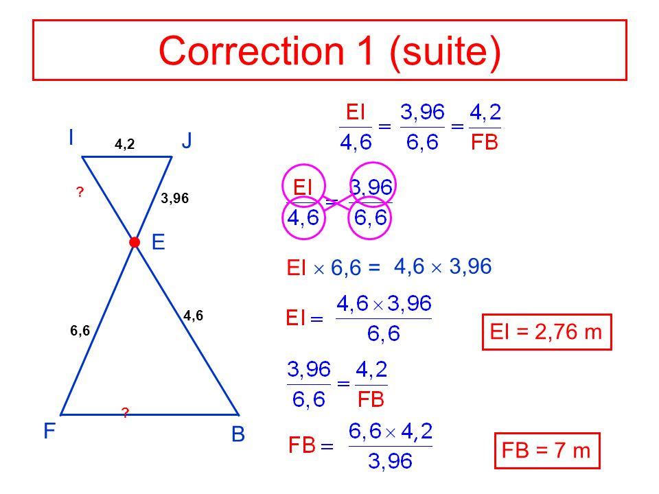 Application 2 Données : Les droites (MG) et (CI) sont sécantes en F.