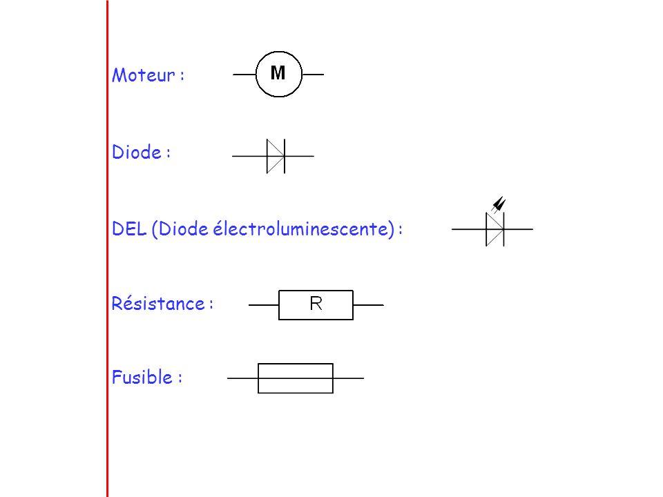 3)Les fils de connexion Fils sans contact électrique Fils en contact électrique
