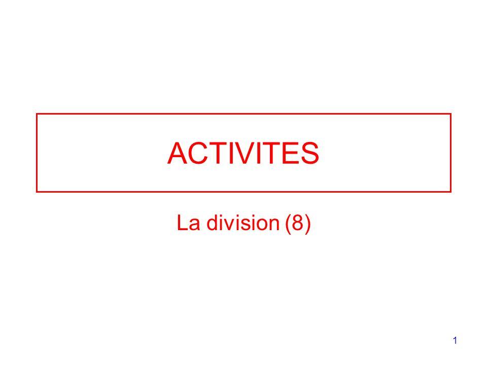 1 ACTIVITES La division (8)
