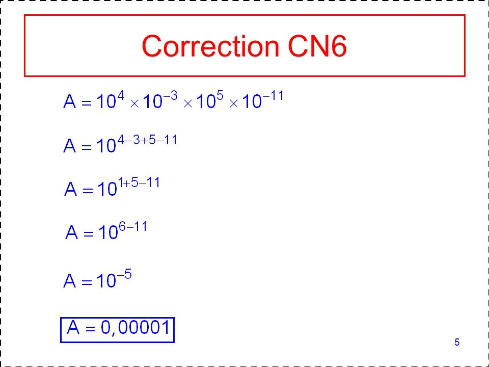5 Correction CN6