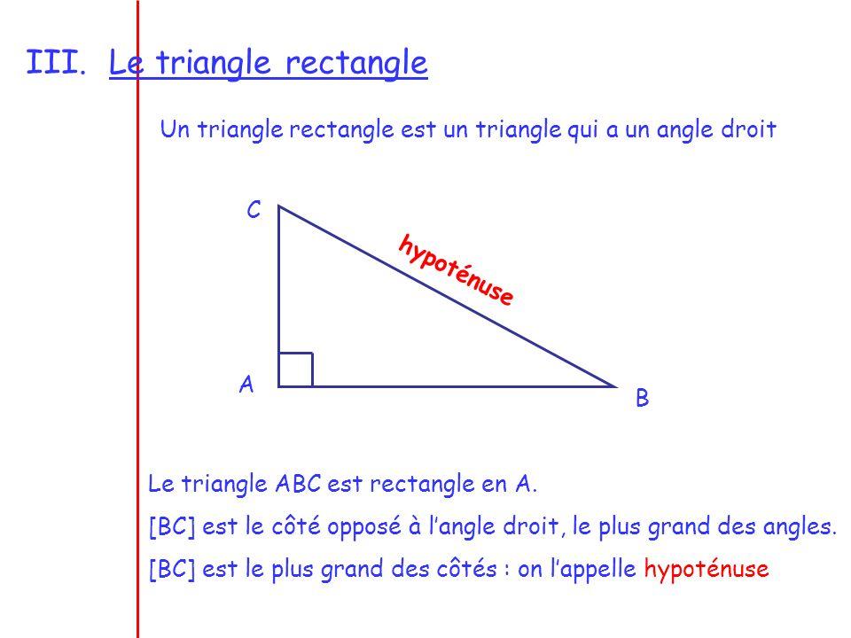 IV.Médiatrice dun segment La médiatrice dun segment est la droite perpendiculaire à ce segment en son milieu.