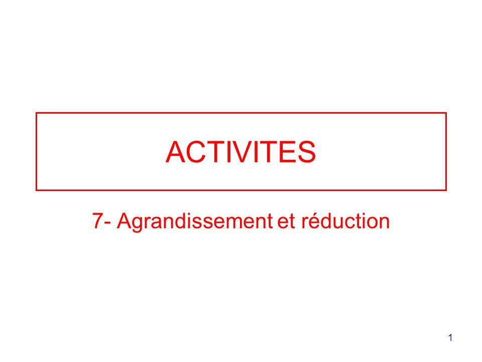 1 ACTIVITES 7- Agrandissement et réduction