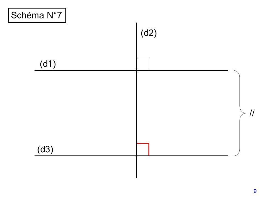 8 (d1) (d2) (d3) Schéma N°6 //