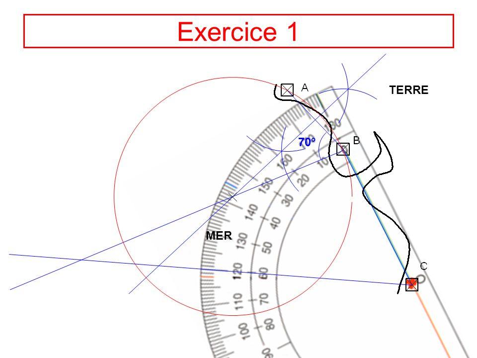 8 70° Exercice 1 TERRE MER 60° Position du navire