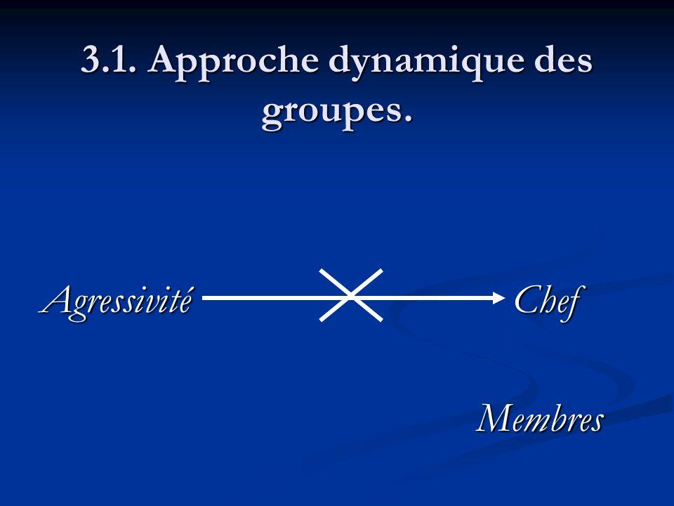 3.1. Approche dynamique des groupes. AgressivitéChef Membres