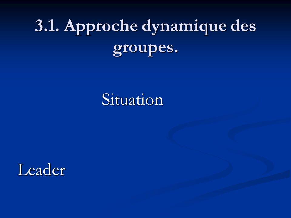 3.1. Approche dynamique des groupes. SituationLeader