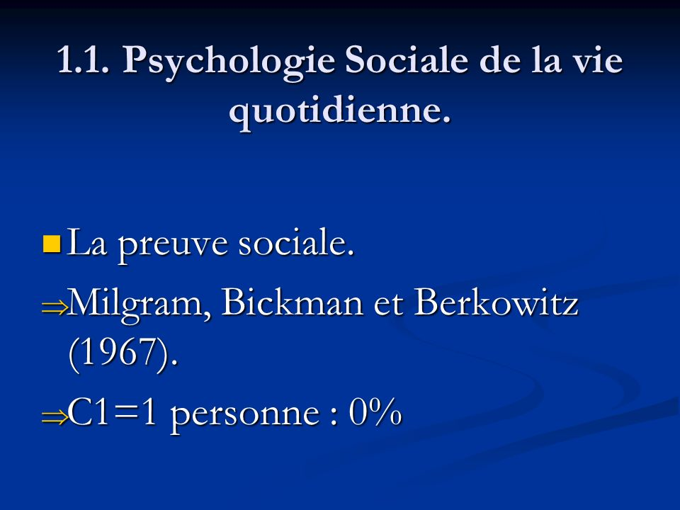 1.1.Psychologie Sociale de la vie quotidienne. La règle de réciprocité.