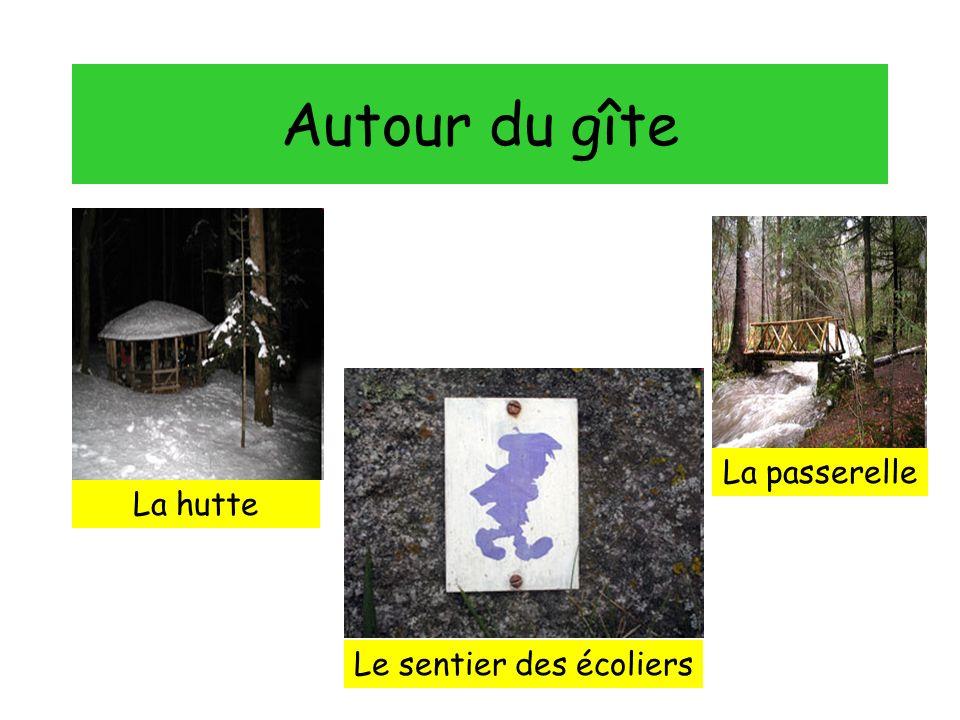 Autour du gîte La hutte La passerelle Le sentier des écoliers