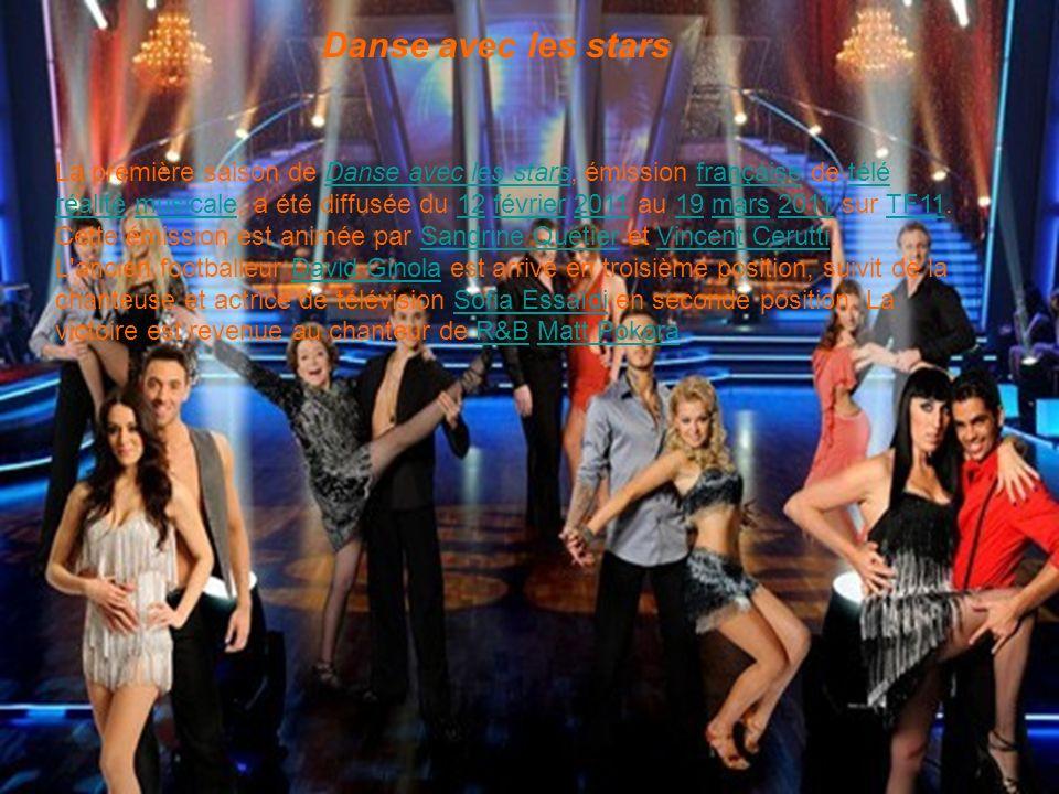 Danse avec les stars La première saison de Danse avec les stars, émission française de télé réalité musicale, a été diffusée du 12 février 2011 au 19 mars 2011 sur TF11.