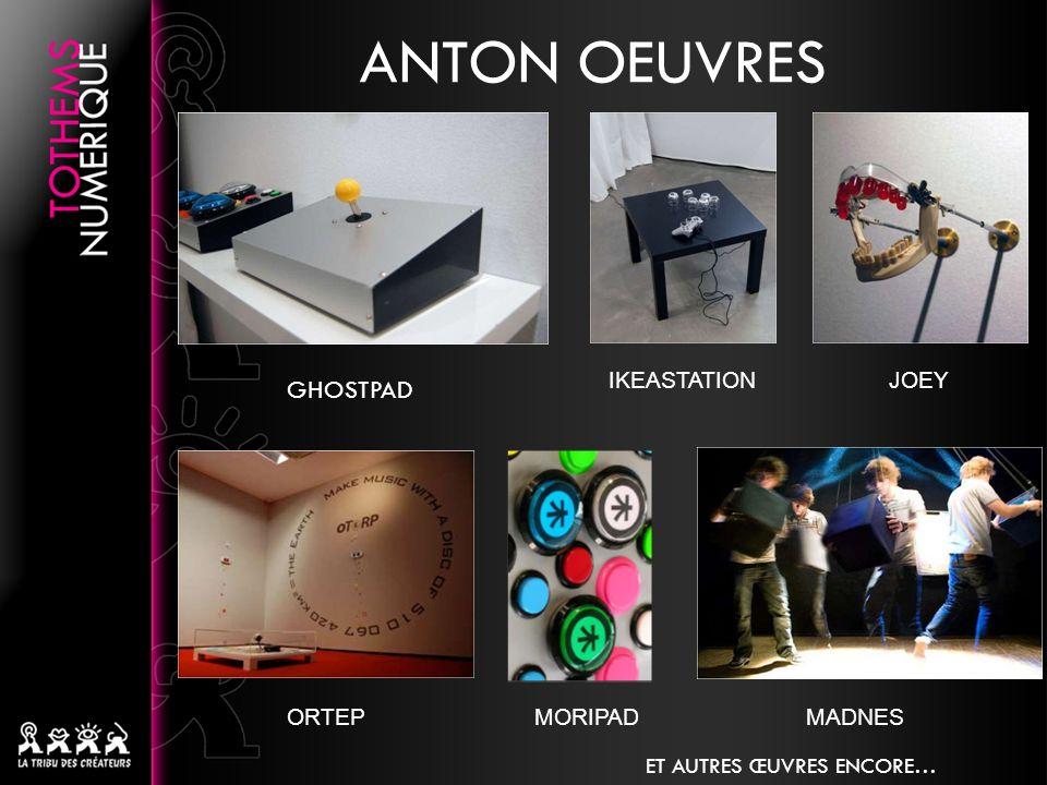 GHOSTPAD ANTON OEUVRES IKEASTATIONJOEY ORTEPMORIPADMADNES ET AUTRES ŒUVRES ENCORE…
