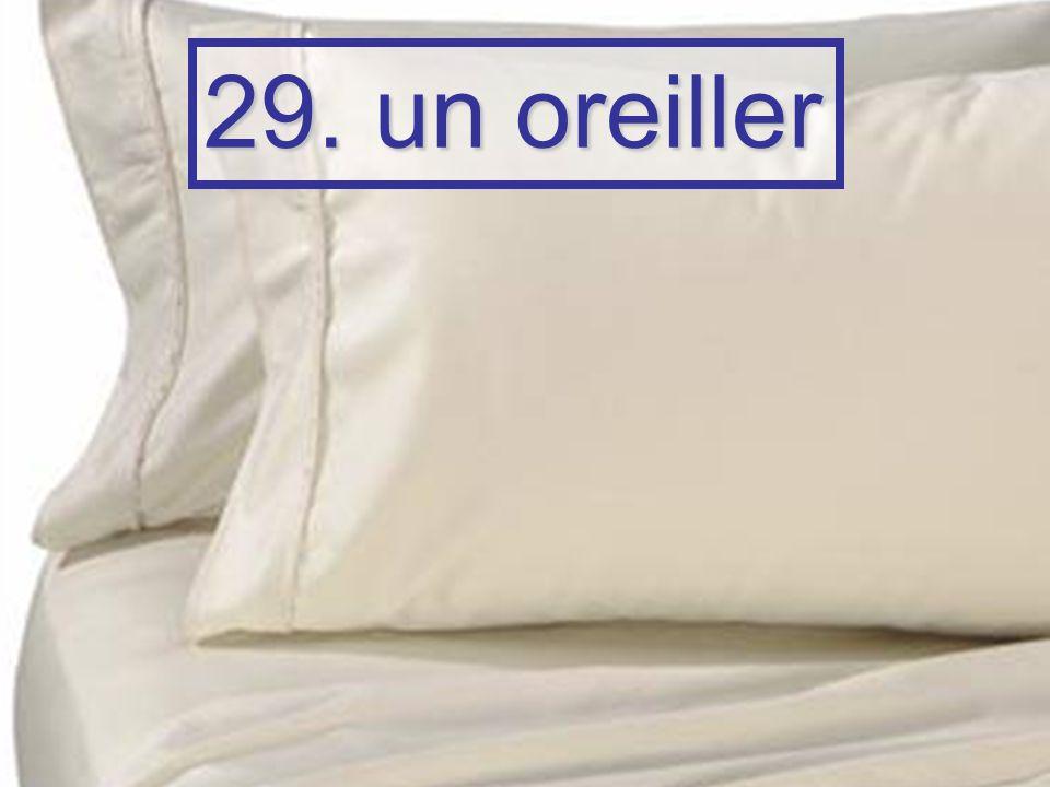 29. un oreiller