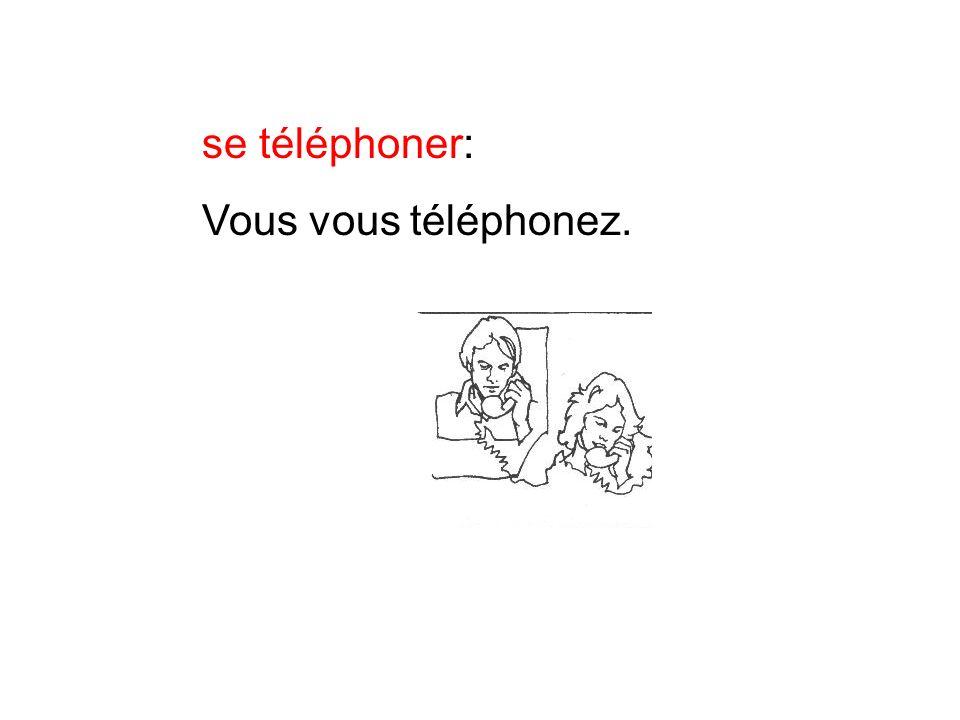 se téléphoner: Vous vous téléphonez.