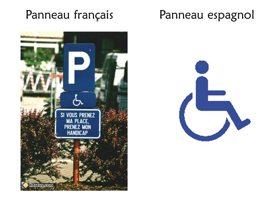 Panneau françaisPanneau espagnol