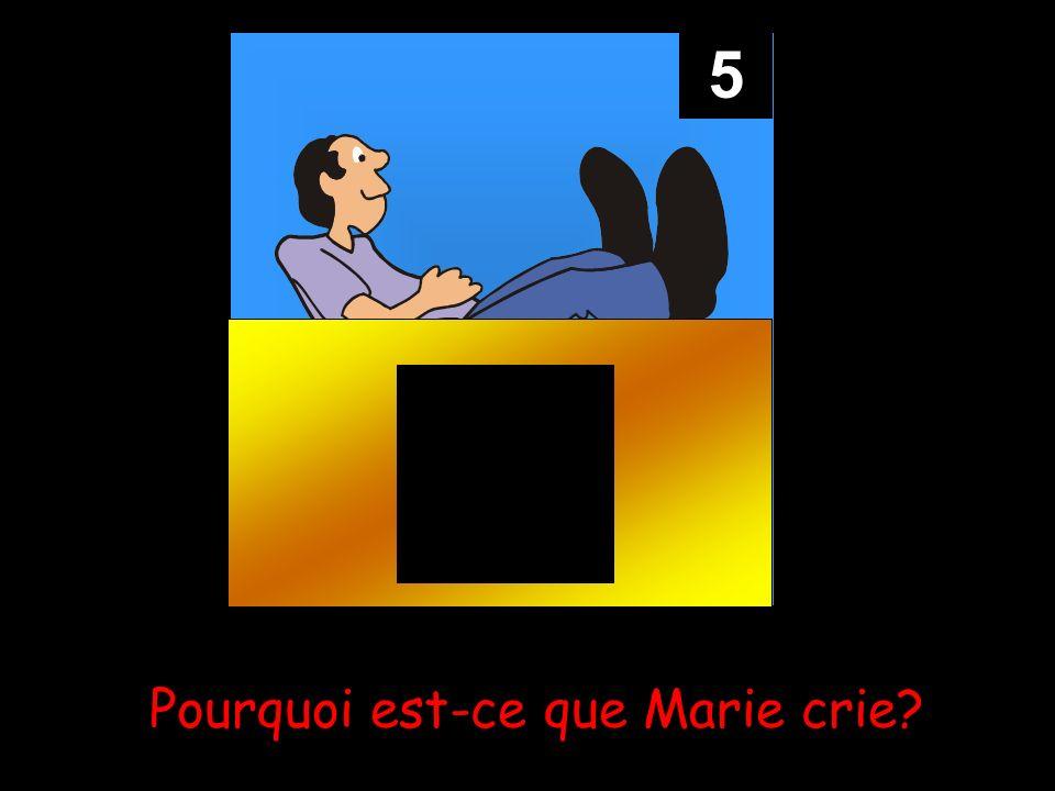 5 Pourquoi est-ce que Marie crie?