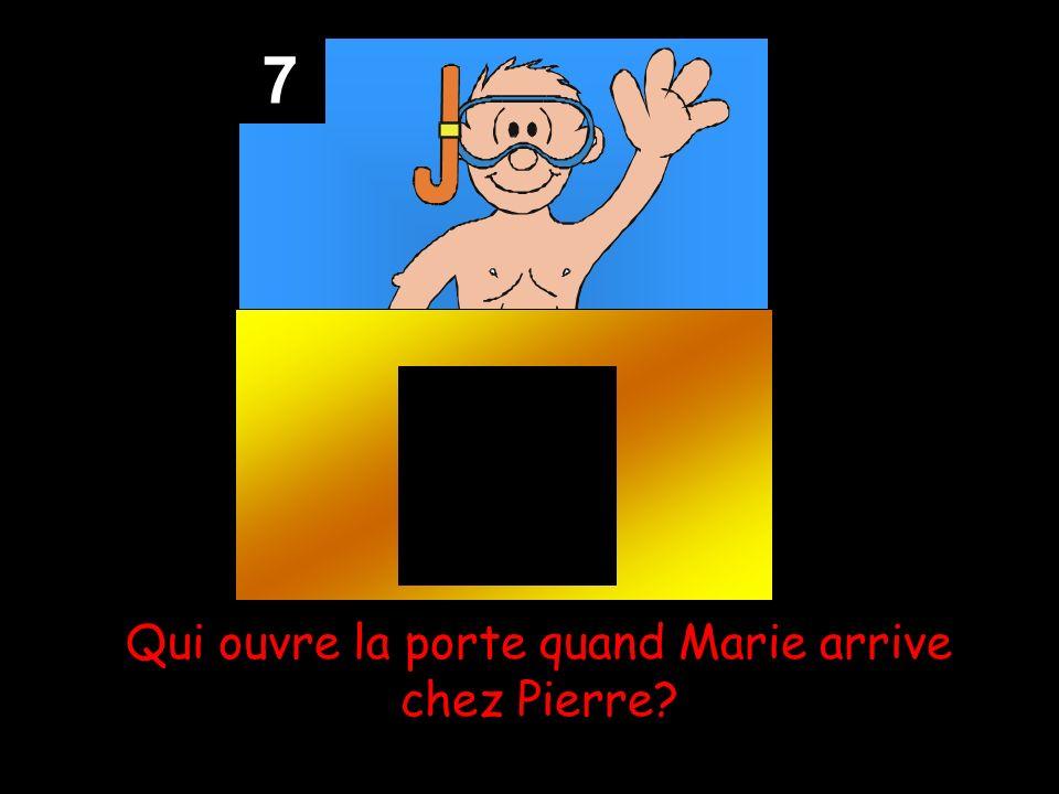 7 Qui ouvre la porte quand Marie arrive chez Pierre?