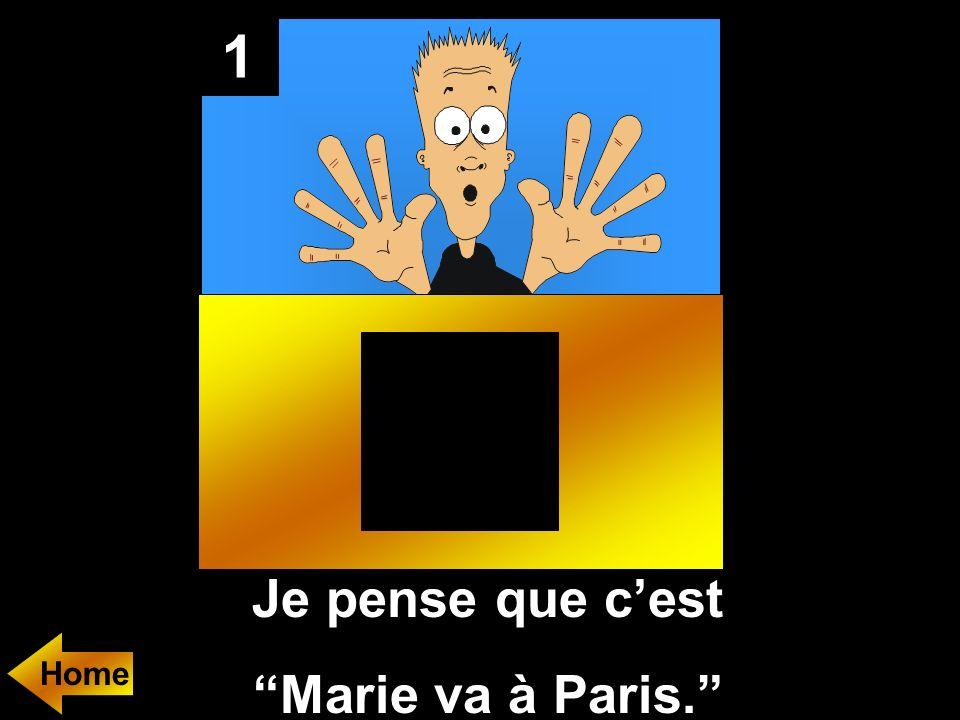 1 Je pense que cest Marie va à Paris. Home