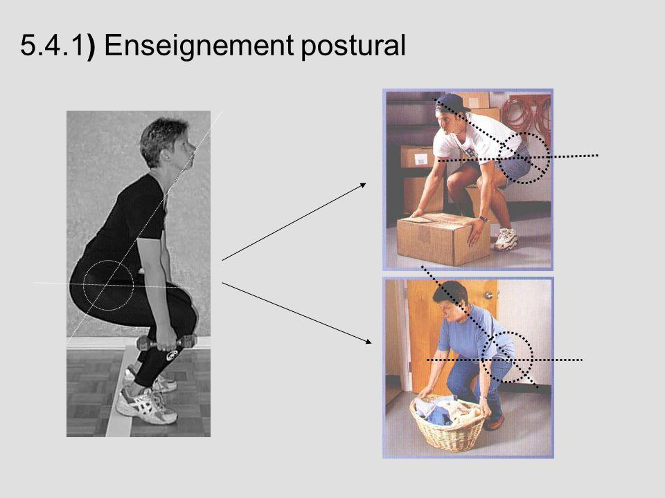 5.4.1) Enseignement postural