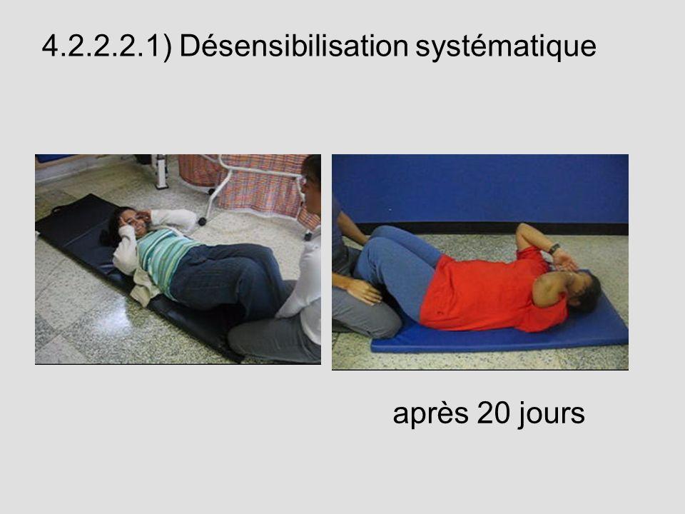 4.2.2.2.1) Désensibilisation systématique après 20 jours
