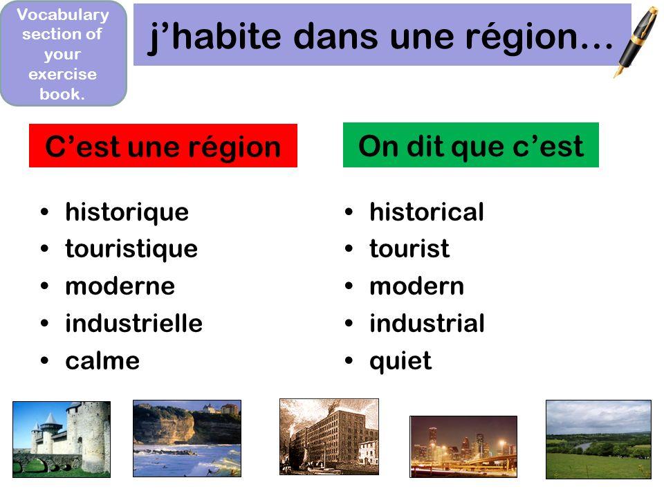 décris Biarritz avec un partenaire. Biarritz cest une région _______ avec beaucoup_____. Cest très ___et il y a beaucoup de _____. How would you impro