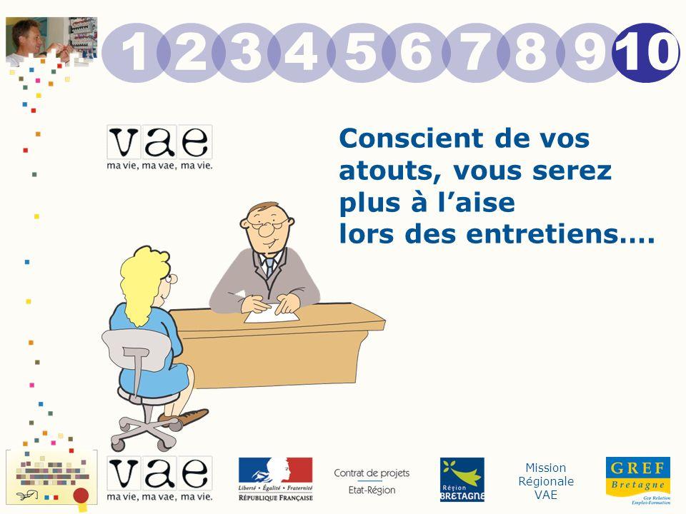 Mission Régionale VAE Conscient de vos atouts, vous serez plus à laise lors des entretiens….