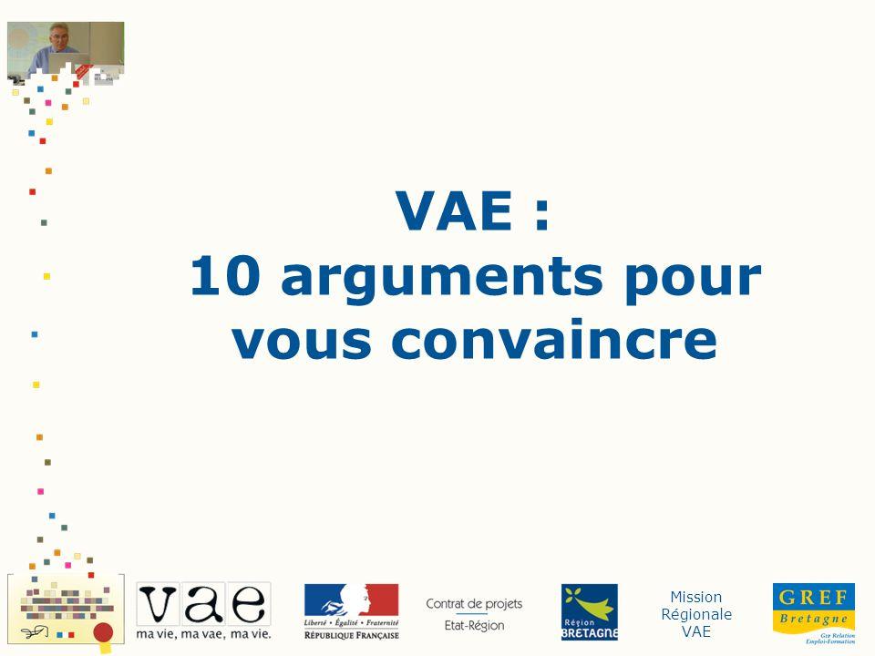 Mission Régionale VAE VAE : 10 arguments pour vous convaincre
