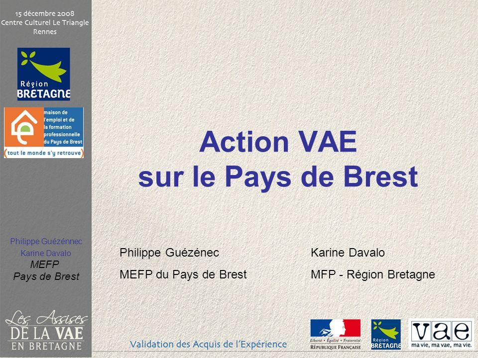 Philippe Guézénnec Karine Davalo MEFP Pays de Brest Action VAE sur le Pays de Brest Philippe GuézénecKarine Davalo MEFP du Pays de BrestMFP - Région Bretagne