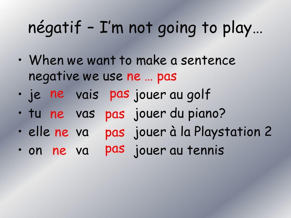Lis – relie les lettres et les numéros. abcdefghijklmabcdefghijklm 1je vais jouer de la batterie 2je vais jouer à la Xbox 3je vais jouer du piano 4je