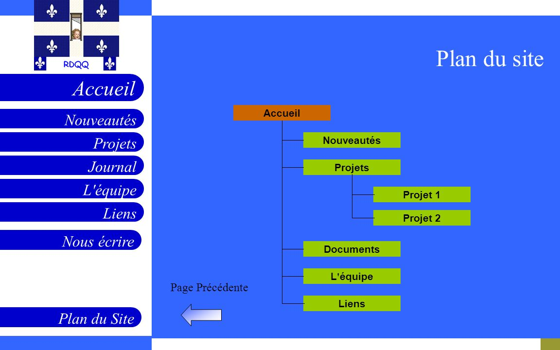 Projets Journal L équipe Liens Nouveautés Accueil Nous écrire Plan du Site Page Précédente