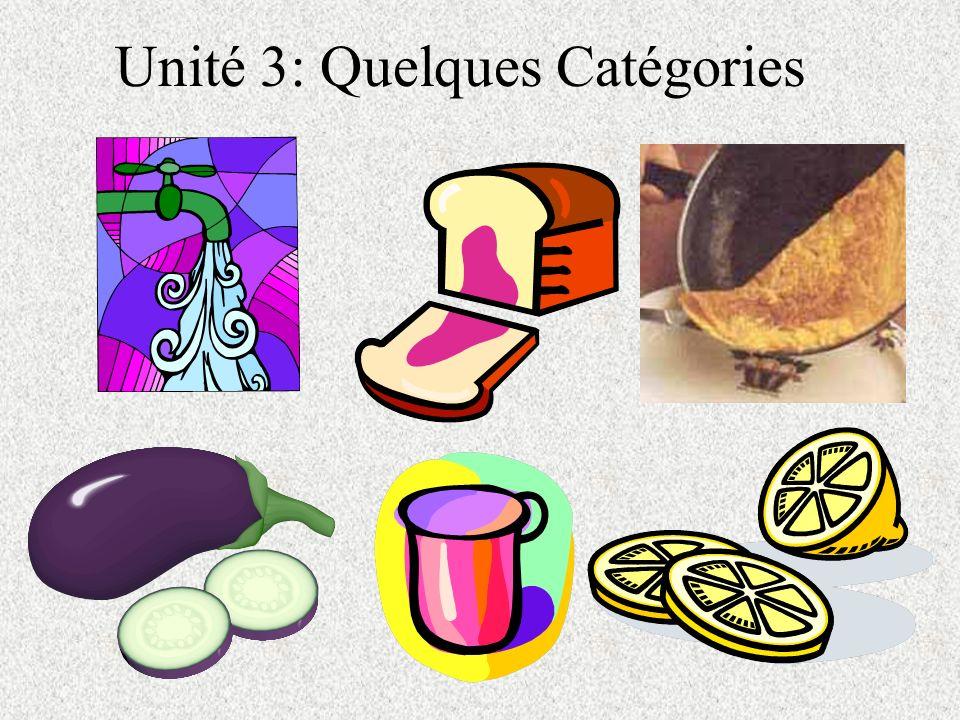 Unité 3: Quelques Catégories