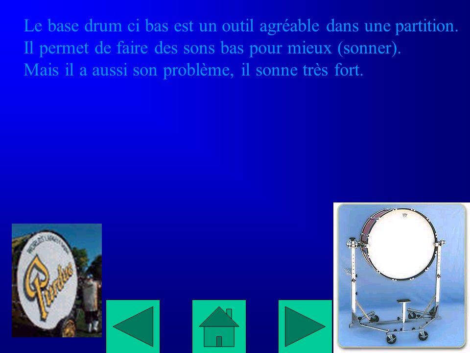 Le base drum ci bas est un outil agréable dans une partition.