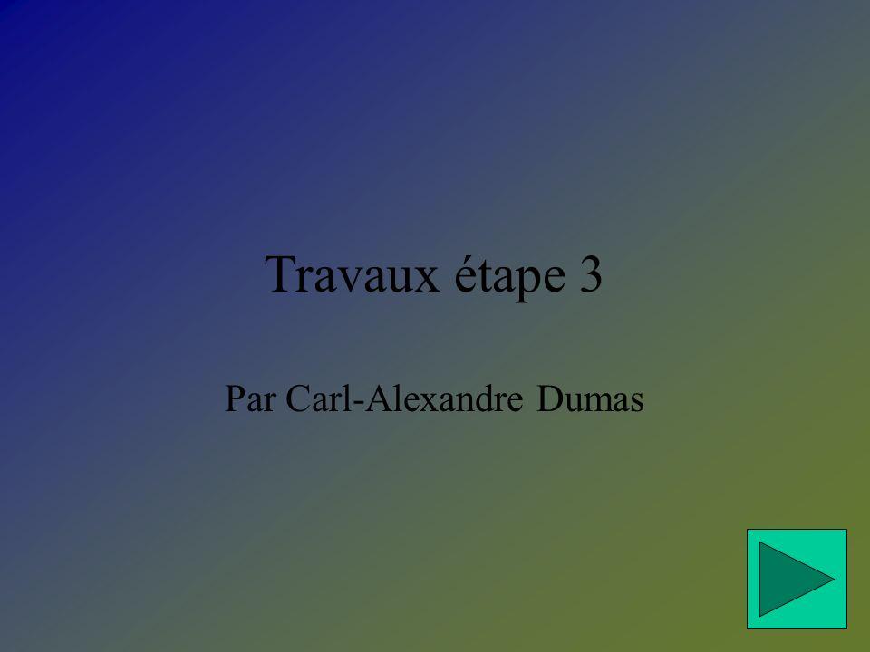 Travaux étape 3 Par Carl-Alexandre Dumas