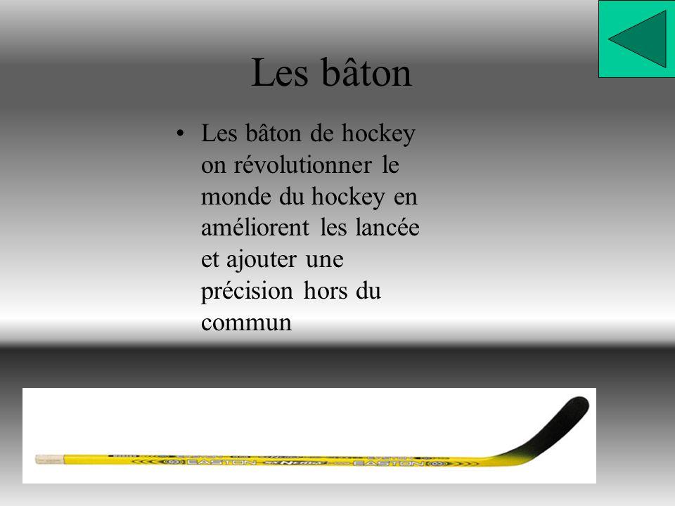 Les bâton Les bâton de hockey on révolutionner le monde du hockey en améliorent les lancée et ajouter une précision hors du commun